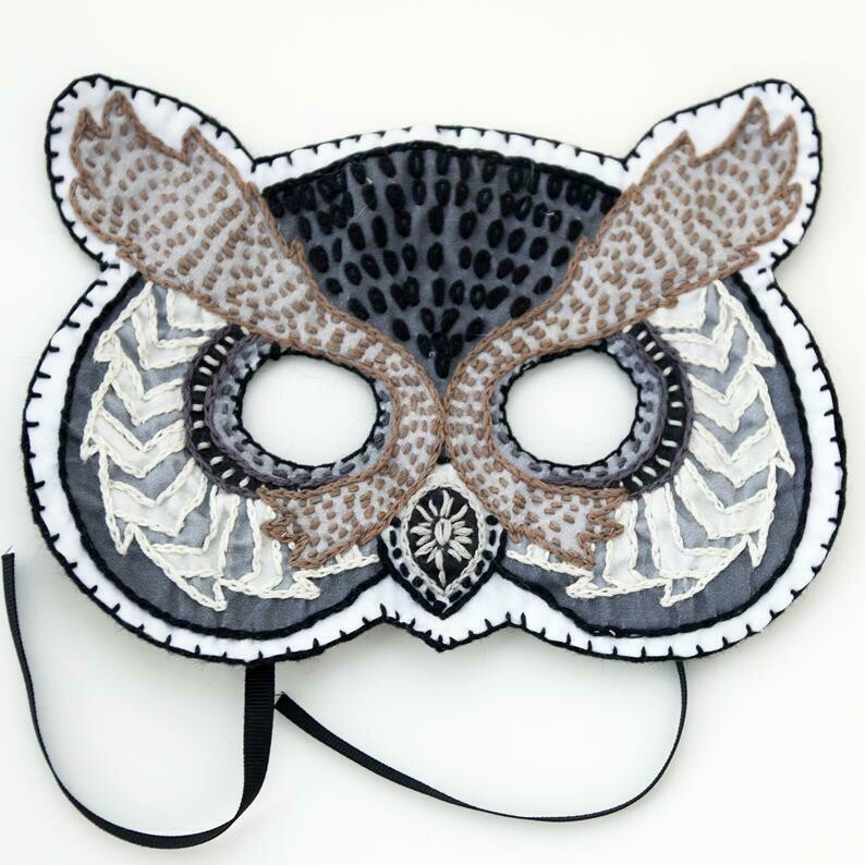 Crafty Creatures Embroidery Kit - Owl Mask Kids