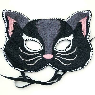 Crafty Creatures Embroidery Kit - Cat Mask Kids