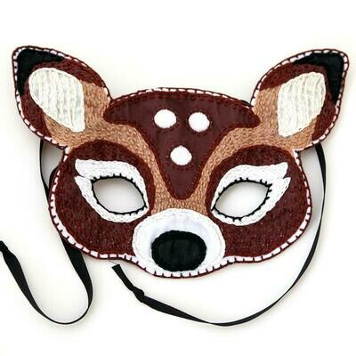 Crafty Creatures Embroidery Kit - Deer Mask Kids