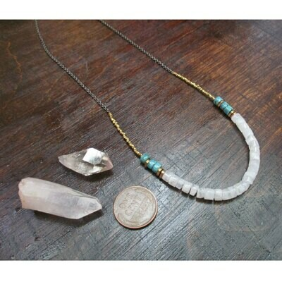 Moonstone & Turquoise Necklace