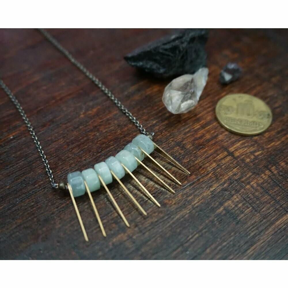 Aquamarine Spike Necklace