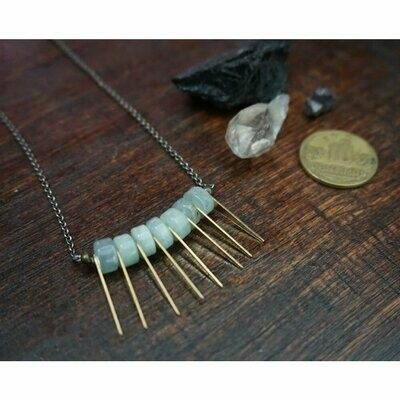 Aquamarine Spike Necklace