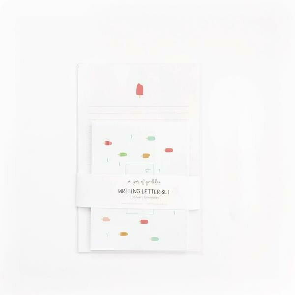 Popsicle Letter and Envelope Set of 10