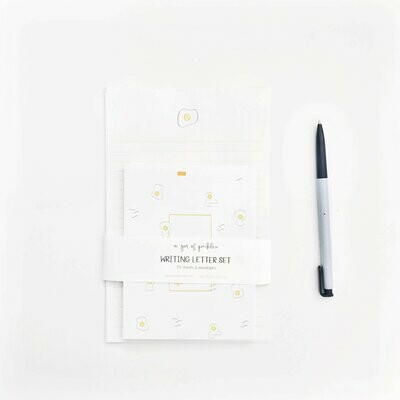 Egg Letter and Envelope Set of 10