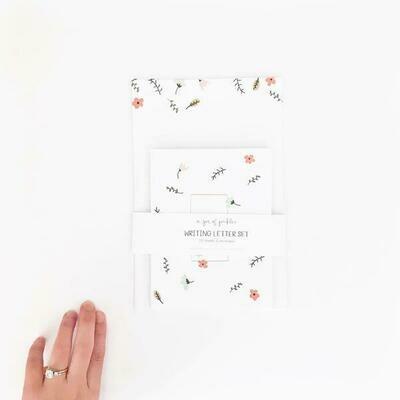 Spring Letter and Envelope Set of 10