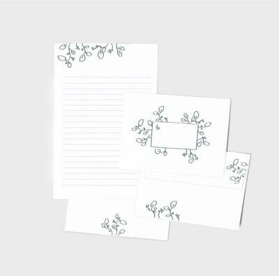 Floral Letter and Envelope Set of 10