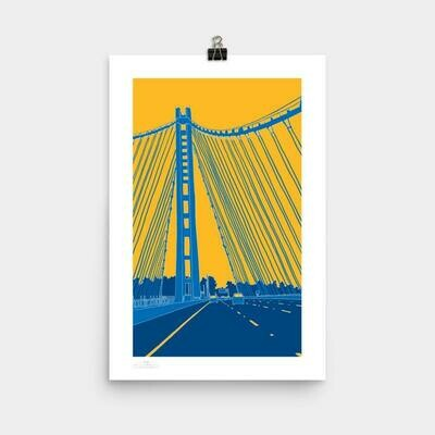 Bay Bridge Poster, 11 x 17