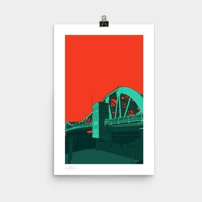 Park Street Bridge Alameda Poster, 11 x 17
