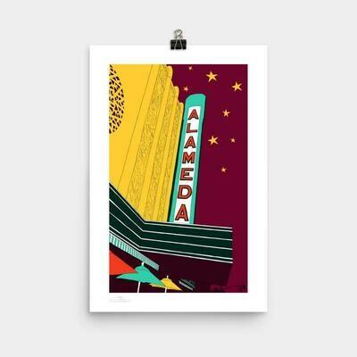 Alameda Theatre Poster, 11 x 17