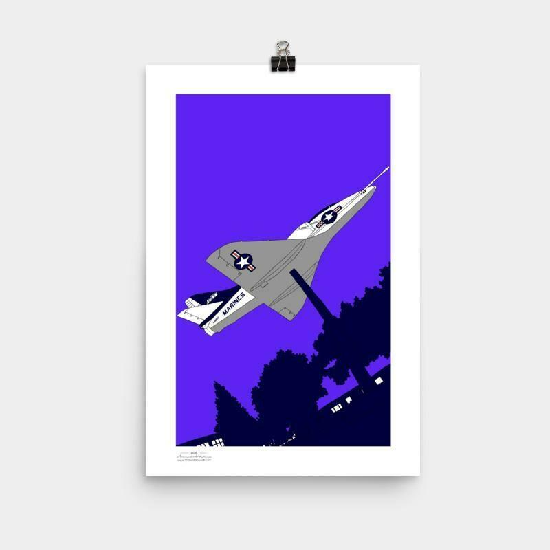 Encinal Jet Poster, 11 x 17 - Purple