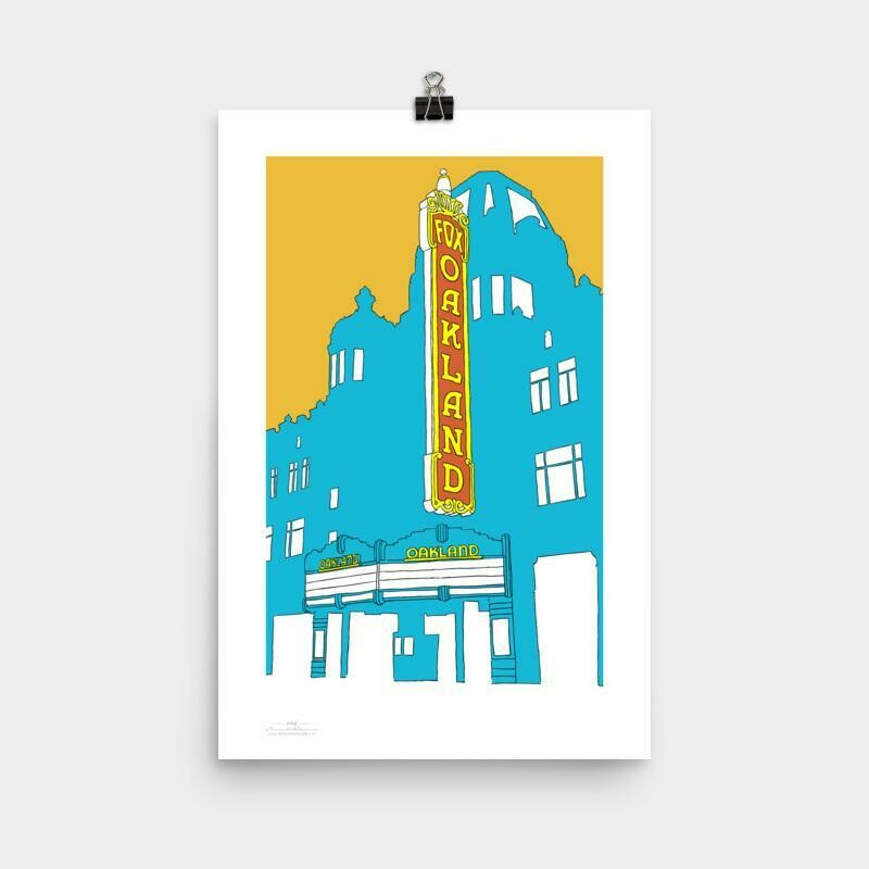 Fox Theater Oakland Poster, 11 x 17