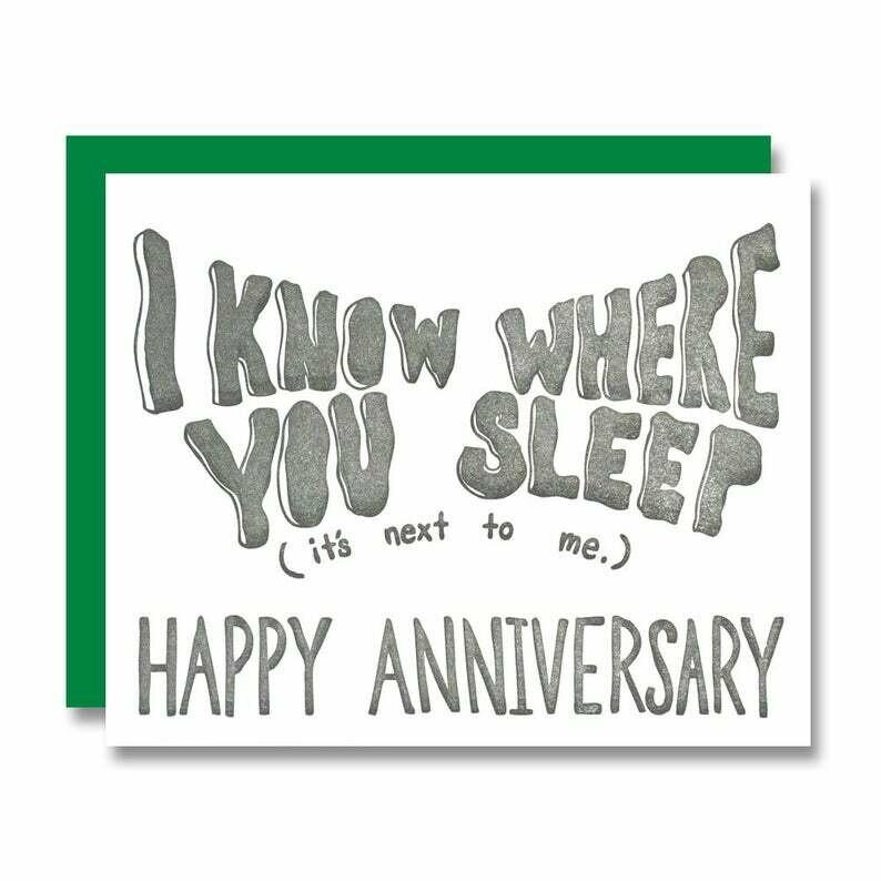 Creepy Anniversary Card