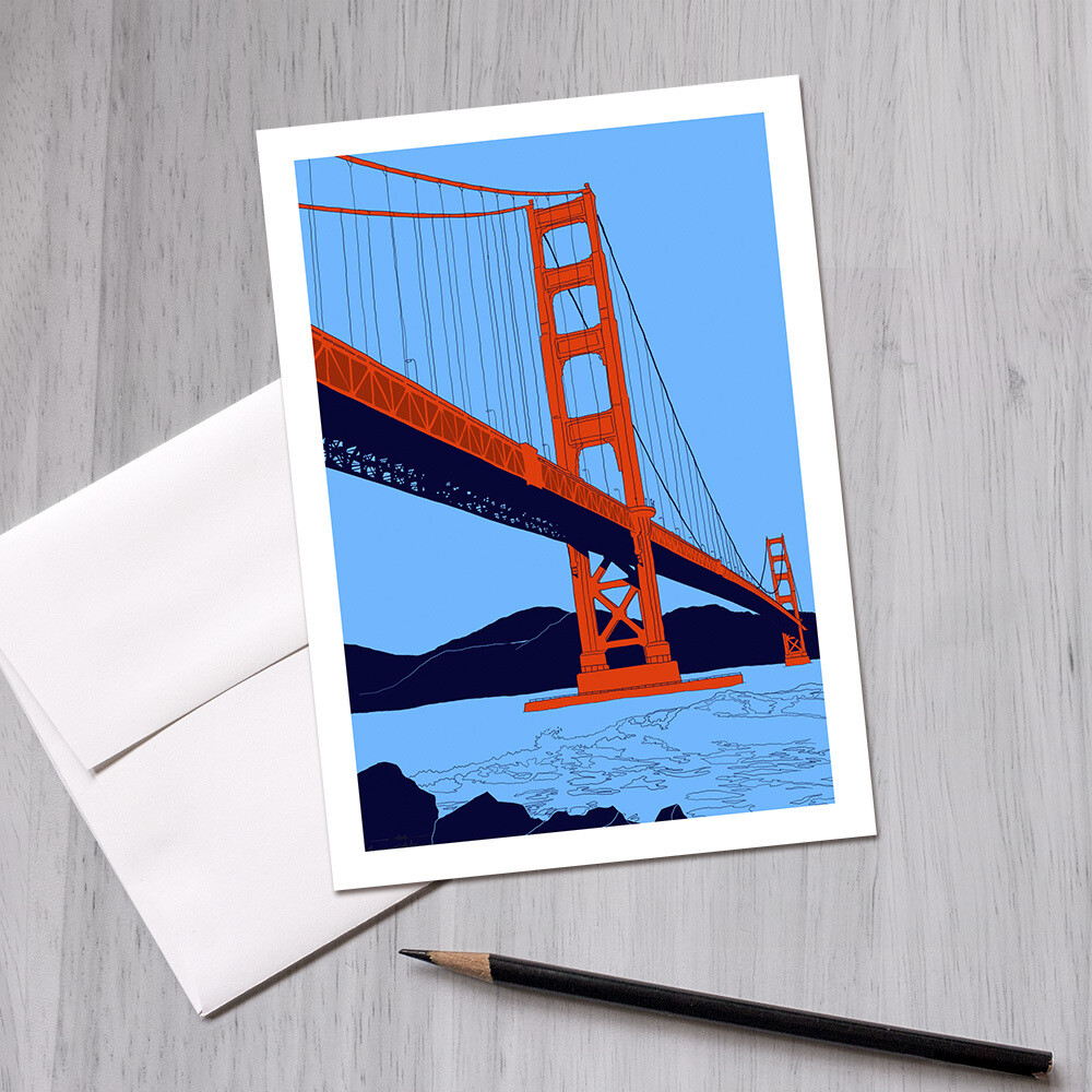 Golden Gate Bridge Greeting Card, 5x7