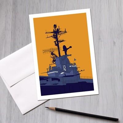 USS Hornet Greeting Card, 5x7