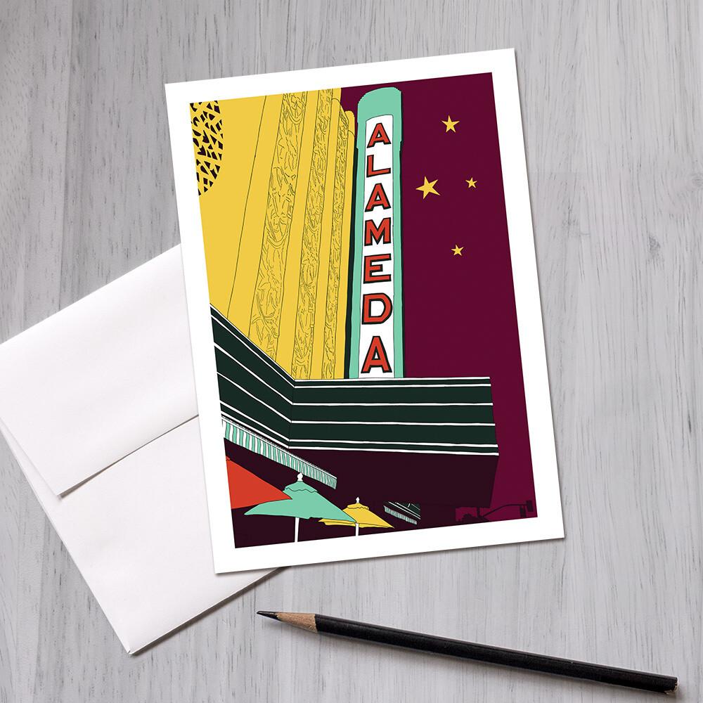 Alameda Theatre Greeting Card, 5x7