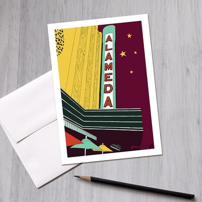 Alameda Theatre Greeting Card, 5x7