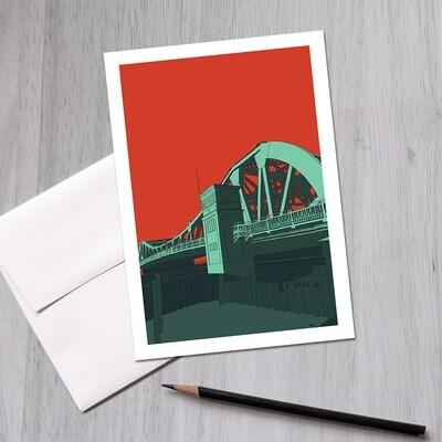 Park Streeet Bridge, Greeting Card 5x7