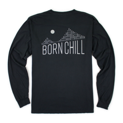 Bay Bridge Reflective Long Sleeve Tee, Black