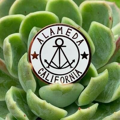 Enamel Pin, Alameda Stamp