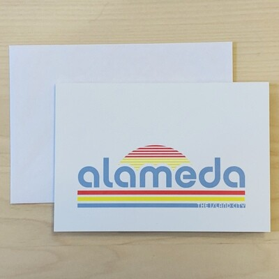 Greeting Card - Alameda Retro