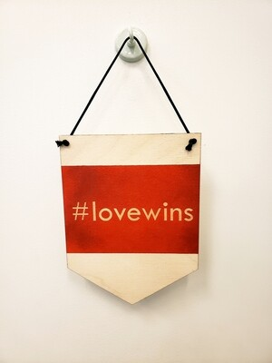 Wall Hanging, #LoveWins - Red