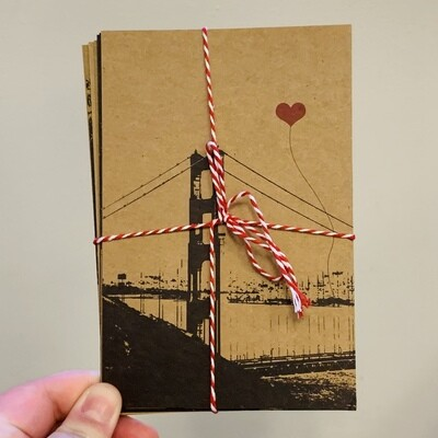SF Lovers Assorted Postcard Set of 8 - NEW