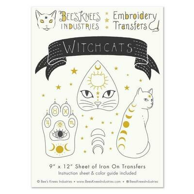 Witchcats Embroidery Transfers