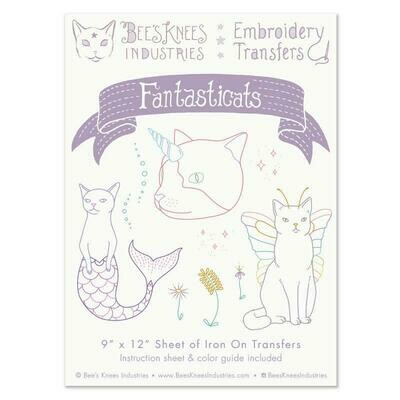 Fantasticats Embroidery Transfers