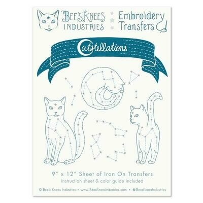 Catstellations Embroidery Transfers