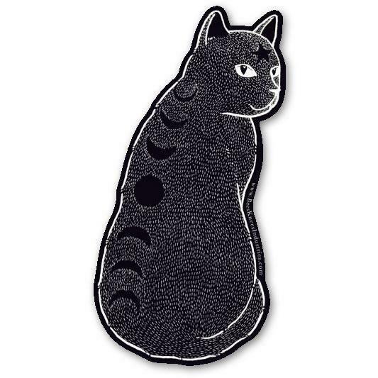 Moon Phase Cat Sticker