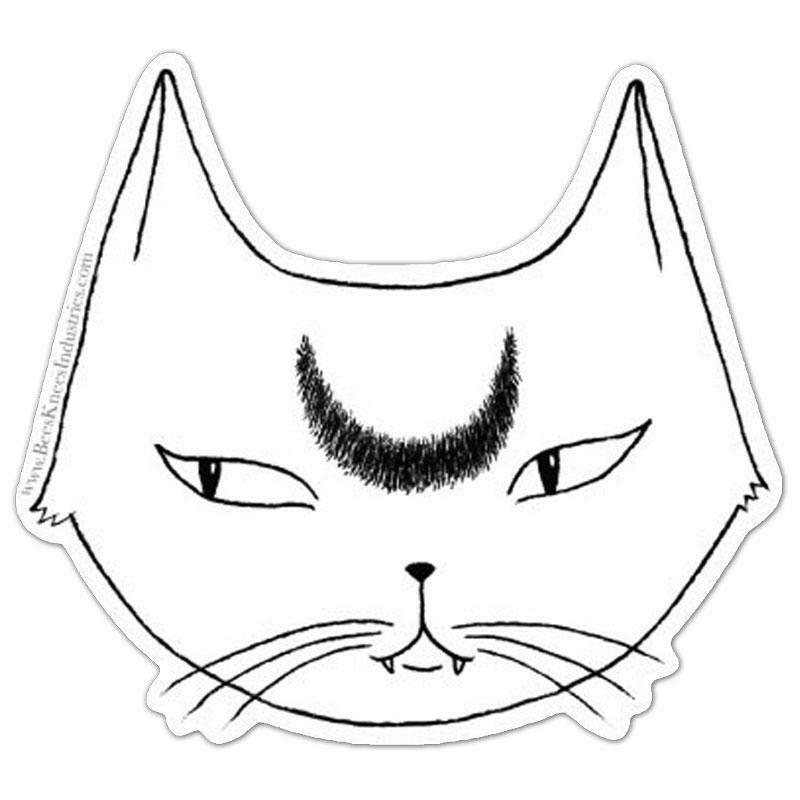 White Lunar Cat Sticker