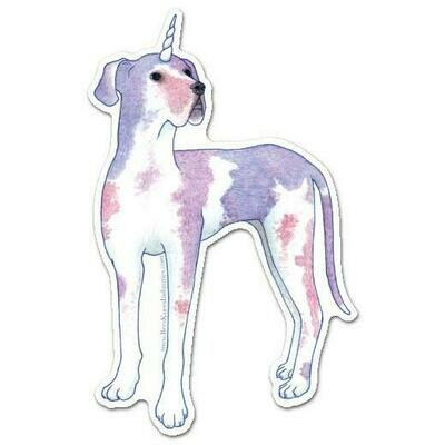 Great Dane Dogicorn sticker
