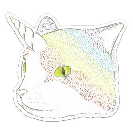 Rainbow Caticorn Sticker