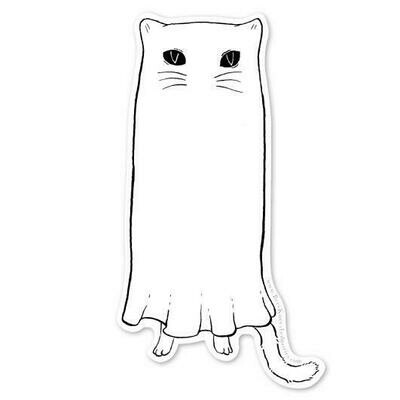 Floating Ghostie Sticker