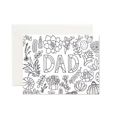 Dad Coloring Card Card