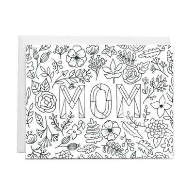 Mom Coloring Card Card