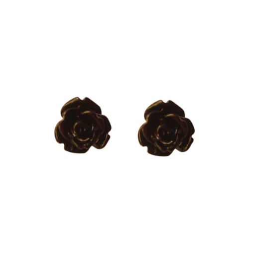 Cute Black Rose Earring