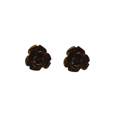 Cute Black Rose Earring