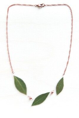 Green Myrtle Beaded Necklace