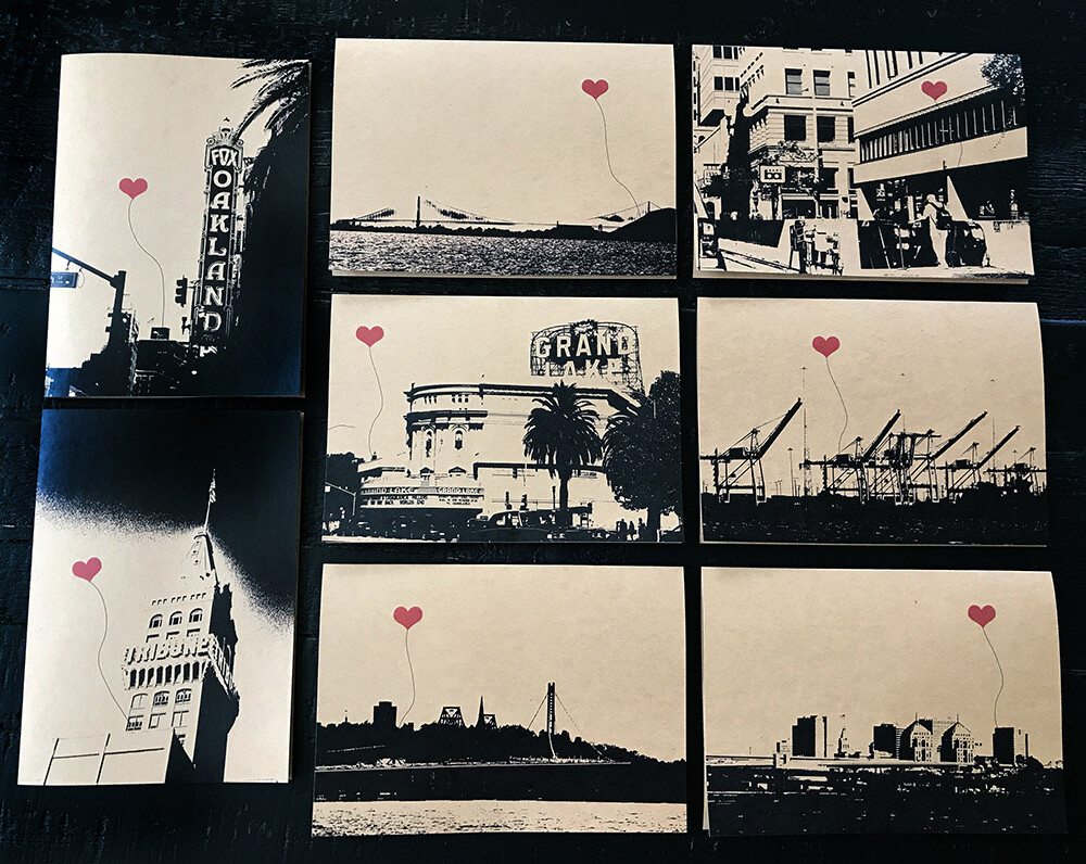 Oakland Lover's Boxed Card Set of 8 - NEW