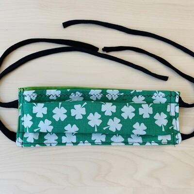 Handmade Mask w/ Pocket, Clovers