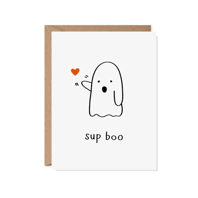 Sup Boo Card