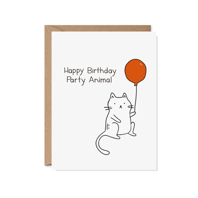 HBD Party Animal Birthday Card