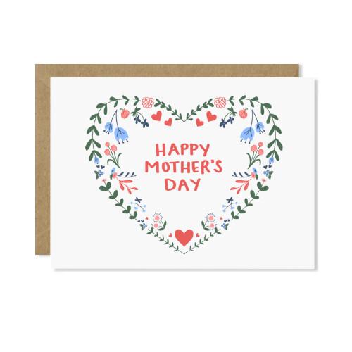 Mother's Day Wreath Card (paper scissor)