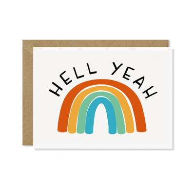 Hell Yeah (Rainbow) Card