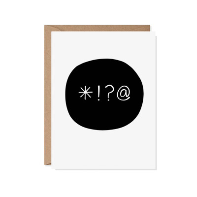 Four Letter Word Everyday Card