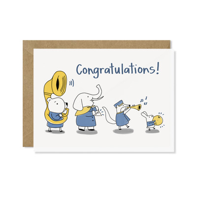 Congrats Marching Band Card