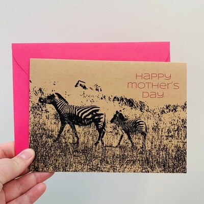 Zebra Happy Mother's Day Card