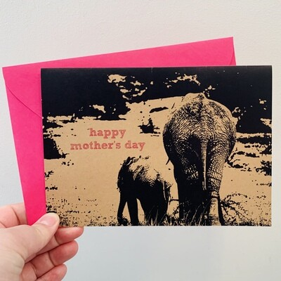 Elephant Happy Mother's Day Card