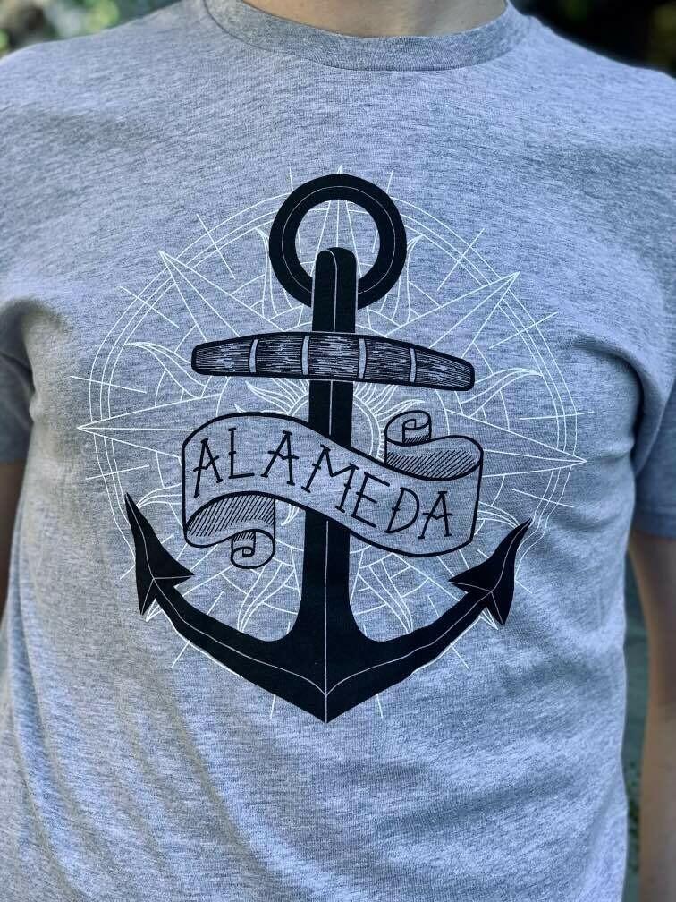 Alameda Aweigh, Grey Masculine Tee